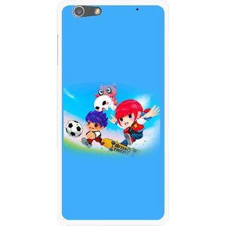 Snooky Printed Childhood Mobile Back Cover For Oppo R1 - Multi