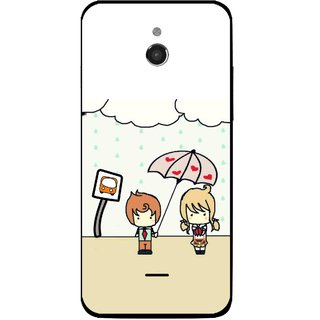 Snooky Printed Feelings in Love Mobile Back Cover For Infocus M2 - Multicolour