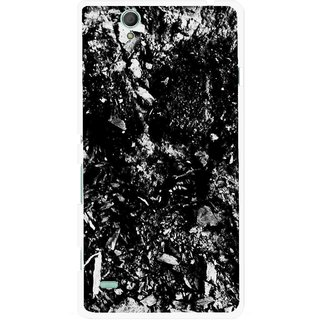 Snooky Printed Rocky Mobile Back Cover For Sony Xperia C4 - Black