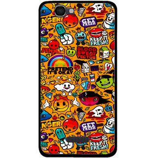 Snooky Printed Freaky Print Mobile Back Cover For Micromax Canvas 2 A120 - Multi