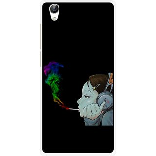 Snooky Printed Color Of Smoke Mobile Back Cover For Vivo Y51L - Multi