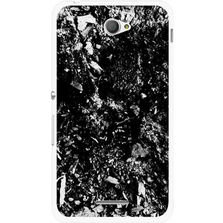 Snooky Printed Rocky Mobile Back Cover For Sony Xperia E4 - Black