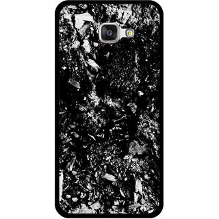 Snooky Printed Rocky Mobile Back Cover For Samsung Galaxy A3 (2016) - Black
