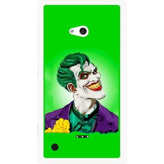 Snooky Printed Ismail Please Mobile Back Cover For Nokia Lumia 720 - Multicolour