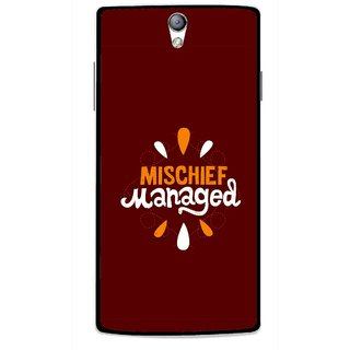 Snooky Printed Mischief Mobile Back Cover For Oppo Find 5 Mini - Brown