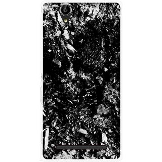 Snooky Printed Rocky Mobile Back Cover For Sony Xperia T2 Ultra - Black