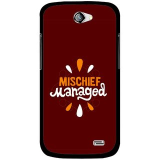 Snooky Printed Mischief Mobile Back Cover For Gionee Pioneer P2 - Brown