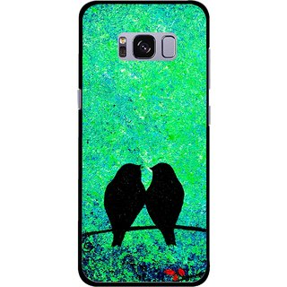 Snooky Printed Love Birds Mobile Back Cover For Samsung Galaxy S8 - Multicolour