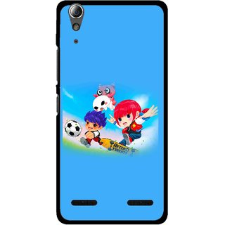 Snooky Printed Childhood Mobile Back Cover For Lenovo A6000 - Multi