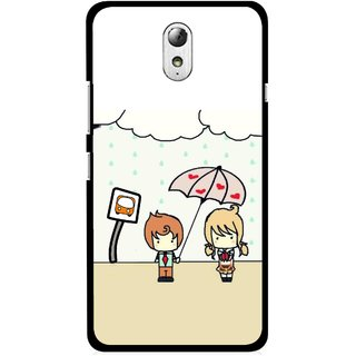Snooky Printed Feelings in Love Mobile Back Cover For Lenovo Vibe P1M - Multicolour
