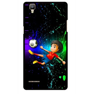Snooky Printed High Kick Mobile Back Cover For Oppo F1 - Multi