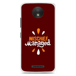 Snooky Printed Mischief Mobile Back Cover For Motorola Moto C Plus - Brown