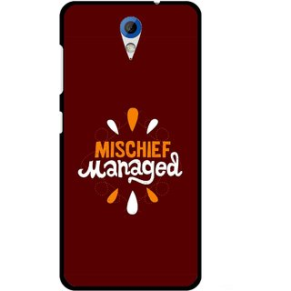 Snooky Printed Mischief Mobile Back Cover For HTC Desire 620 - Brown
