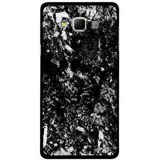 Snooky Printed Rocky Mobile Back Cover For Samsung Galaxy E5 - Black