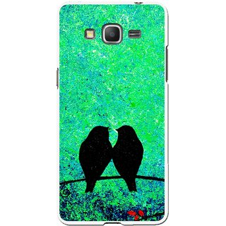 Snooky Printed Love Birds Mobile Back Cover For Samsung Galaxy Grand Max - Multicolour