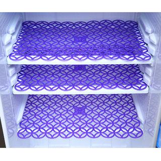 Kuber Industries Refrigerator Drawer Mat / Fridge Mat Set Of 6 Pcs (Sky Blue)