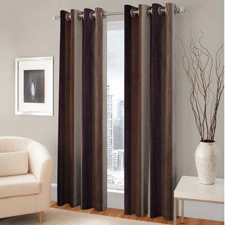 Trendz Home Furnishing Long Crush Single Window Curtain 4x5 Feet