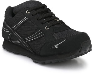 Sir Corbett Men's Black Sports Shoes