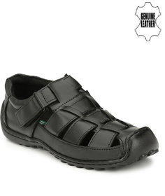 Sir Corbett Men's Black Sandals