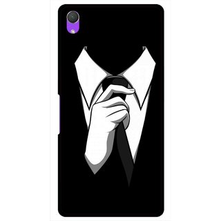 Snooky Printed White Collar Mobile Back Cover For Sony Xperia Z2 - Multi
