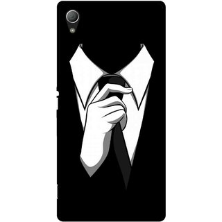 Snooky Printed White Collar Mobile Back Cover For Sony Xperia Z3 - Multi