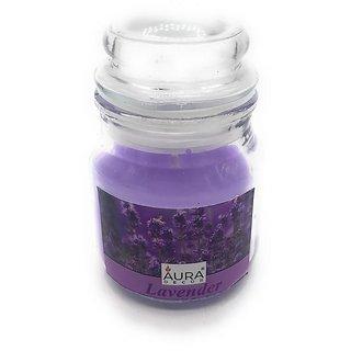 AuraDecor Pack of 1 Highly Fragrance Jar Candle Lavender Burning time 40 hours
