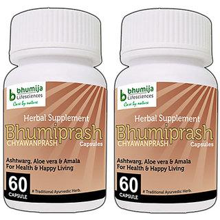 CHYAWANPRASH CAPSULES (BHUMIPRASH) 60's (COMBO PACK OF TWO)