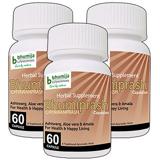 CHYAWANPRASH CAPSULES BHUMIPRASH 60's (COMBO PACK OF THREE)