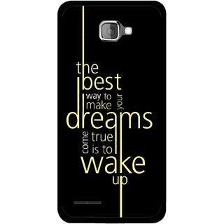 Snooky Printed Wake up for Dream Mobile Back Cover For Micromax Canvas Mad A94 - Black