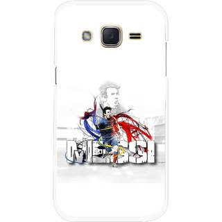Snooky Printed Messi Mobile Back Cover For Samsung Galaxy j2 - Multicolour