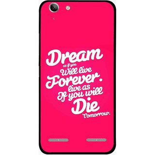 Snooky Printed Live the Life Mobile Back Cover For Lenovo Vibe K5 Plus - Multi