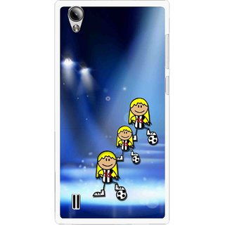 Snooky Printed Girls On Top Mobile Back Cover For Vivo Y15 - Multi