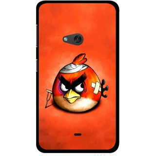 Snooky Printed Wouded Bird Mobile Back Cover For Nokia Lumia 625 - Red