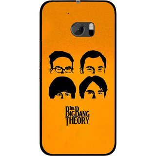 Snooky Printed Bigbang Mobile Back Cover For HTC One M10 - Yellow