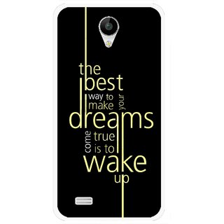Snooky Printed Wake up for Dream Mobile Back Cover For Vivo Y22 - Black
