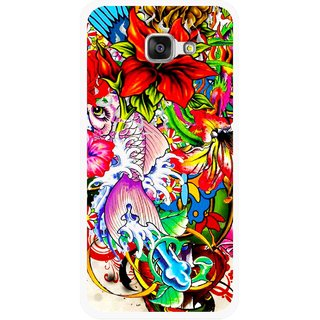 Snooky Printed Horny Flowers Mobile Back Cover For Samsung Galaxy A5 2016 - Multicolour