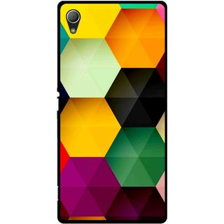 Snooky Printed Hexagon Mobile Back Cover For Sony Xperia Z3 - Multi