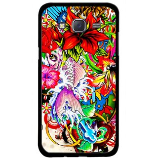 Snooky Printed Horny Flowers Mobile Back Cover For Samsung Galaxy J5 - Multicolour