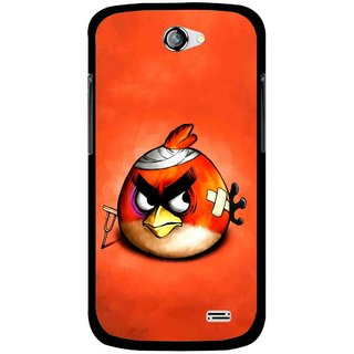 Snooky Printed Wouded Bird Mobile Back Cover For Gionee Pioneer P2 - Red