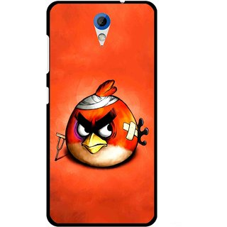 Snooky Printed Wouded Bird Mobile Back Cover For HTC Desire 620 - Red