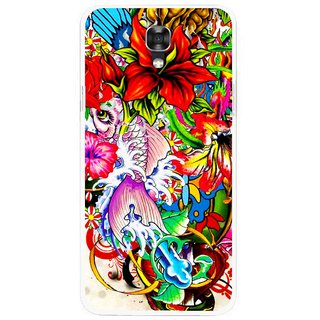 Snooky Printed Horny Flowers Mobile Back Cover For Lg X Screen - Multicolour