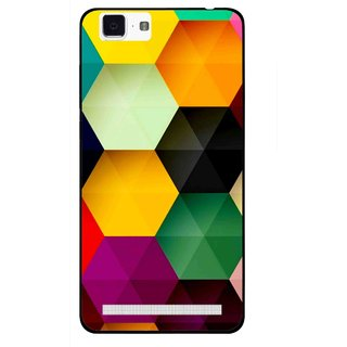 Snooky Printed Hexagon Mobile Back Cover For Vivo X5 Max - Multi