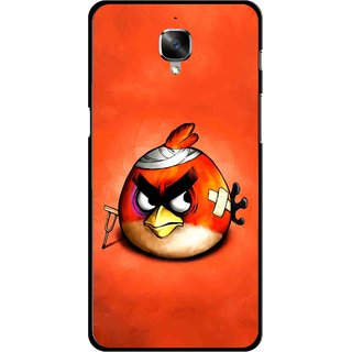 Snooky Printed Wouded Bird Mobile Back Cover For OnePlus 3 - Red