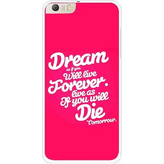 Snooky Printed Live the Life Mobile Back Cover For Micromax Canvas Knight 2 E471 - Multi