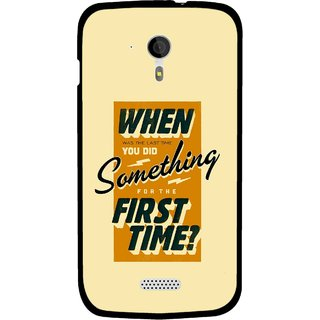 Snooky Printed First Time you Did Mobile Back Cover For Micromax A116 - Yellow