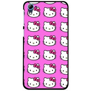 Snooky Printed Pink Kitty Mobile Back Cover For HTC Desire 826 - Multi