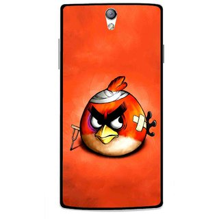 Snooky Printed Wouded Bird Mobile Back Cover For Oppo Find 5 Mini - Red