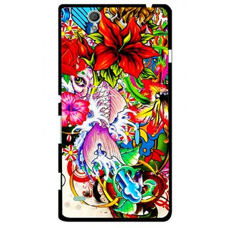 Snooky Printed Horny Flowers Mobile Back Cover For Sony Xperia C4 - Multicolour