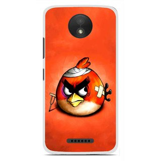 Snooky Printed Wouded Bird Mobile Back Cover For Motorola Moto C Plus - Red