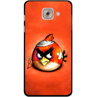 Snooky Printed Wouded Bird Mobile Back Cover For Samsung Galaxy J7 Max - Red